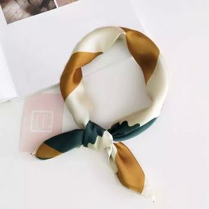 The Nina - Green, cream, and gold neck scarf!!